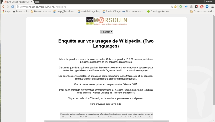 French Wikipedia questionnaire